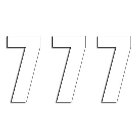 _Blackbird Vinyl Numbers # 7 White (13 x 7 cm) | 5047-10-7 | Greenland MX_