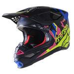 _Alpinestars Supertech S-M8 Echo Helmet Black/Blue | 8302521-1759 | Greenland MX_