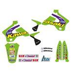 _Tecnosel Decal Kit + Seat Cover Replica Team Kawasaki 1998 KX 125/250 94-98   84V02   Greenland MX_