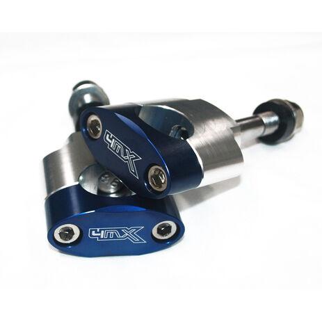 _4MX Handlebar Clamps 28 mm Axis 12 mmBlue | MS-19BL | Greenland MX_
