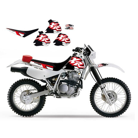 _Kit decal + seat cover blackbird Honda XR 250/400 96-04 | 8105 | Greenland MX_