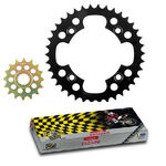 _Kit Front + Rear sprocket Steel + Chain Honda TRX 450 R 04-05 (38/15 T) | KTR-HONQ450002 | Greenland MX_