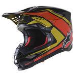 _Alpinestars Supertech M10 Meta 2 Helmet Black/Yellow/Orange | 8300222-1549 | Greenland MX_