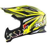 _KYT Strike Eagle Stripe Helmet Yellow Fluor | KYT-YSEA0002 | Greenland MX_