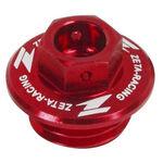 _Honda Yamaha Oil Filler Plug Red   ZE89-2110   Greenland MX_