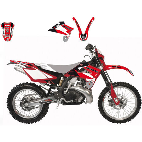 _Graphic Kit Gas Gas EC 125/250/300 07-09 FSR 450 07-09 FSR 515 08-09 Red | 2902E | Greenland MX_