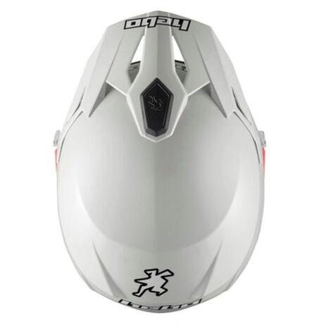 _Hebo Zone 5 Monocolor Trial Helmet White | HC1112B | Greenland MX_