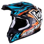 _Scorpion VX-16 Air Replica ROK Helmet Orange/Blue | 46-191-152 | Greenland MX_