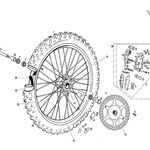 _Front Wheel | GGEC2511-11 | Greenland MX_