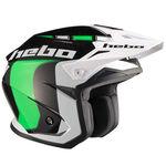 _Hebo Zone 5 Like Trial Helmet Green | HC1115V | Greenland MX_
