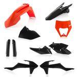 _Acerbis KTM EXC/EXC-F 17-19 Plastic Kit Full Black/Orange | 0022371.313-P | Greenland MX_