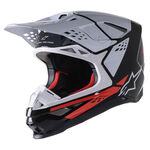 _Alpinestars Supertech S-M8 Factory Helmet Black/White/ | 8302222-1233 | Greenland MX_