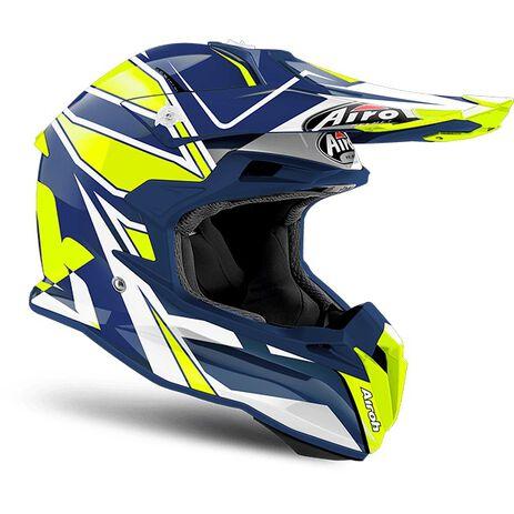 _Airoh Terminator Open Vision Shock Blue Gloss Helmet 2018   TOVSH18   Greenland MX_