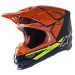_Alpinestars Supertech S-M8 Factory Helmet Navy/Orange | 8302222-7445 | Greenland MX_