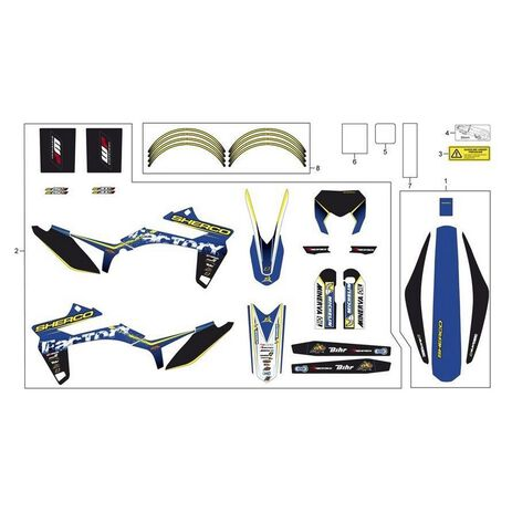 _Sherco Enduro Factory 2013 Complete Graphic Kit | SH-4882 | Greenland MX_