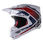 _Alpinestars Supertech M10 Meta 2 Helmet White/Red/Blue | 8300222-2378 | Greenland MX_
