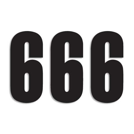 _Blackbird Vinyl Numbers # 6 Black (13 x 7 cm) | 5047-20-6 | Greenland MX_