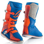 _Acerbis Shark Youth Boots Blue/Orange Fluo | 0017934.243.00P | Greenland MX_