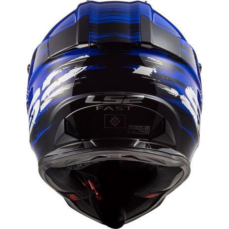 _LS2 MX437 Fast Helmet Gator Blue | 404372926 | Greenland MX_