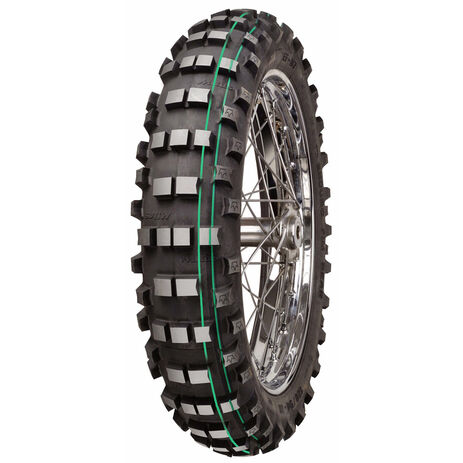 _Mitas EF-07 Super Soft Extreme 140/80/18 Tire Double Green Stripe | 26273 | Greenland MX_