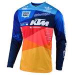_Troy Lee Designs GP Air Jet Jersey Blue/Orange | 30466300 | Greenland MX_