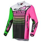 _Alpinestars Racer Compass Youth Jersey Black/Green/Pink   3772122-1669   Greenland MX_