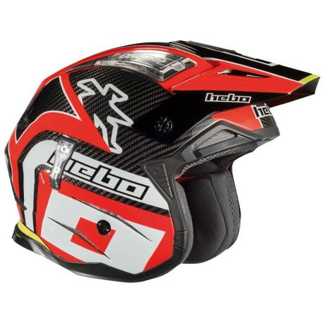 _Trial Hebo Zone 4 Carbon Helmet Red | HC1061R | Greenland MX_