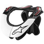 _Alpinestars BNS Pro Neck Support Brace Black/White/Red   6500114-123-P   Greenland MX_