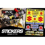 _4MX Assorted Stickers Suzuki | 01KITA606S | Greenland MX_