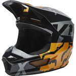 _Fox V1 Skew Helmet Black/Gold | 27999-595 | Greenland MX_