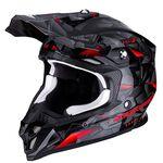_Scorpion VX-16 Air Punch Helmet Black/Silver | 46-270-163 | Greenland MX_