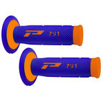_Pro Grip 791 Dual Grips Blue/Orange Fluo | PGP-791BLOR | Greenland MX_