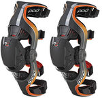 _POD Knee Braces K1 Youth Gray/Orange | K1013-230-YP | Greenland MX_