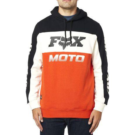 _Fox Charger Pullover Fleece Black/Orange | 24093-016 | Greenland MX_