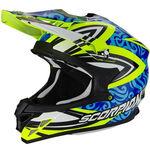 _Scorpion VX-15 Evo Air Revenge Helmet Yellow Fluor/Blue/Black XL | 35-217-180-XL | Greenland MX_