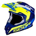 _Scorpion VX-16 Air Arhus Mate Helmet Blue/Yellow Fluo | 46-266-220 | Greenland MX_