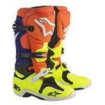 _Alpinestars Tech 10 Boots Orange/Yellow Fluor/Blue | 2010014-475 | Greenland MX_