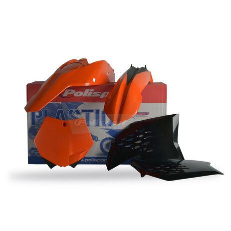 _Polisport KTM SX 07-10 SXF 07-10 EXC 08-11 EXCF 08-11  Plastic Kit   90121   Greenland MX_