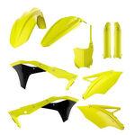 _Polisport Kawasaki KX 250 F 17-18 Plastic Kit Full Yellow Fluor | 90743 | Greenland MX_