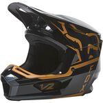_Fox V2 Merz Helmet Black/Gold | 28033-595 | Greenland MX_