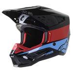 _Alpinestars S-M5 Bond Helmet Black/Red | 8303422-1377 | Greenland MX_