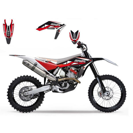 _Blackbird Kit Decals Husqvarna TC/TE 449-511 11-13 Dream Red | 2610E | Greenland MX_