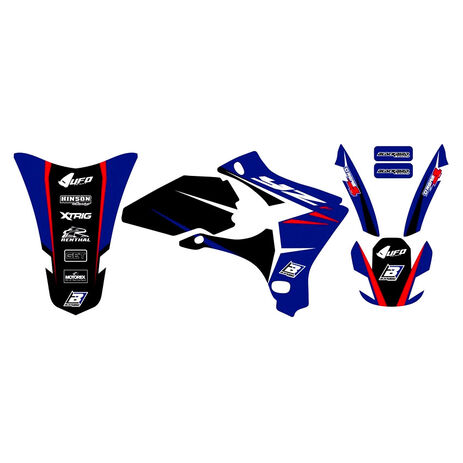 _Blackbird Dream 4 Yamaha YZ 250/450 F 03-05 Kit Decal | 2230N | Greenland MX_