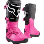 _Fox Comp Women Boots Black/Pink | 24013-285 | Greenland MX_