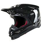 _BlacAlpinestars Supertech M8 Solid Helmet Black Glossy | 8300519-1180 | Greenland MX_