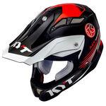 _KYT Strike Eagle K-MX Helmet Black/White | KYT-YSEA0006 | Greenland MX_