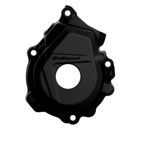 _KTM SX-F 250/350 16-.. HVA FC 250/350 16-.. Ignition Cover Protector Polisport Black | 8461400001 | Greenland MX_
