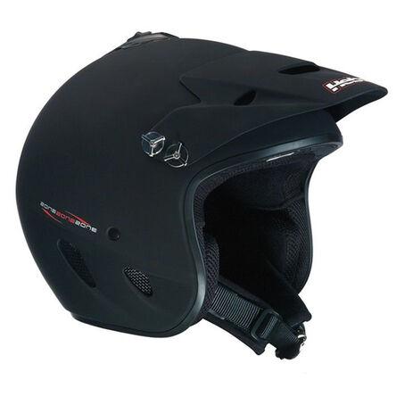 _Hebo Zone PolycarbonateTrial Helmet Black | HC1100N | Greenland MX_