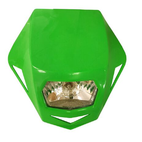 _Race Tech Headlight Genesis Green | R-MASKVF000 | Greenland MX_