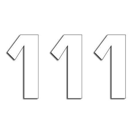 _Blackbird Vinyl Numbers #1 White (16 x 7,5 cm)   5048-10-1   Greenland MX_